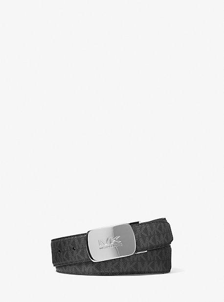 Двусторонний логотип и кожаный ремень Michael Kors