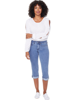 Укороченные джинсы с манжетами Petite Marilyn в цвете Delray NYDJ Petite