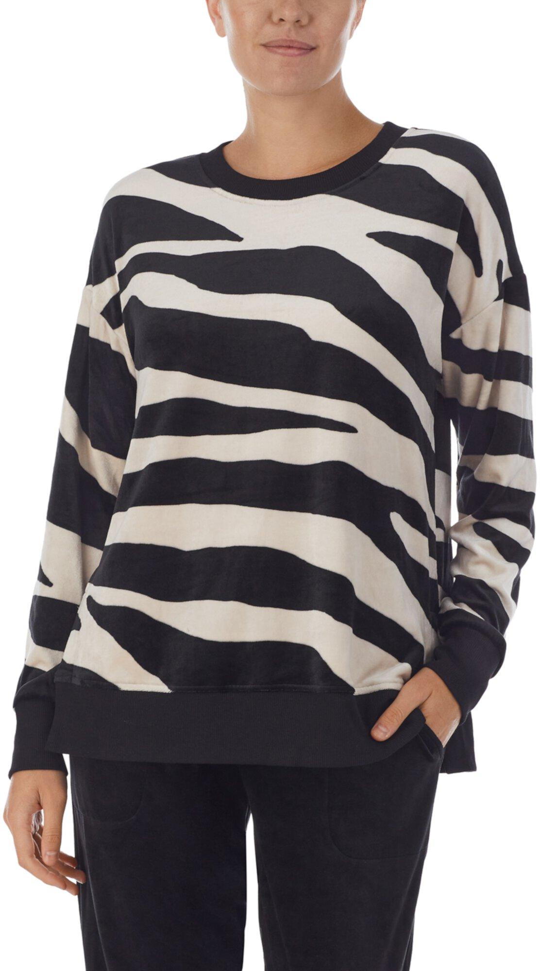 Пижамный топ с длинным рукавом для сна Donna Karan