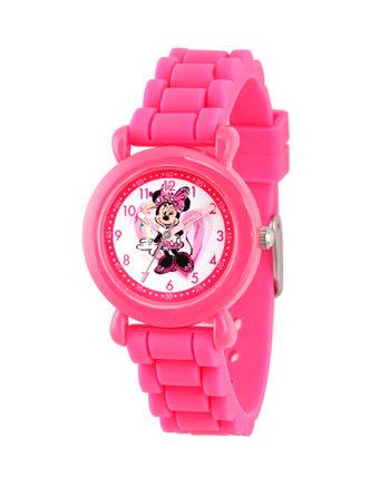 Розовые пластиковые часы для девочек Disney Minnie Mouse Ewatchfactory