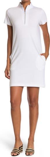 Платье из пике с воротником на молнии Cloth By Design