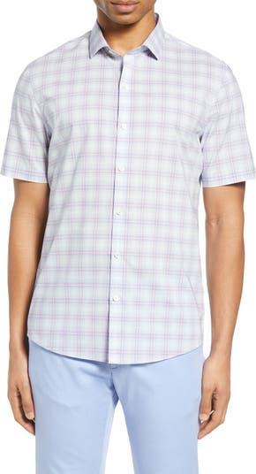 Рубашка с коротким рукавом в клетку Laube Classic Fit на пуговицах Zachary Prell
