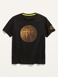 Футболка с сетчатым рисунком с короткими рукавами и графическим рисунком Go-Dry для мальчиков Old Navy