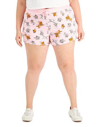 Модные шорты большого размера Tom & Jerry с дельфинами на подоле Freeze 24-7