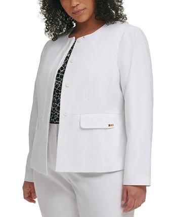 Пиджак большого размера без воротника Calvin Klein