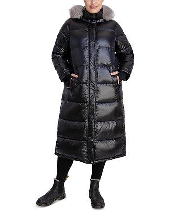 Макси-пальто с капюшоном и отделкой из искусственного меха больших размеров, созданное для Macy's Michael Kors