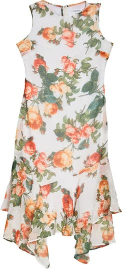 Платье миди High / Low с цветочным принтом Rose Modern American Designer