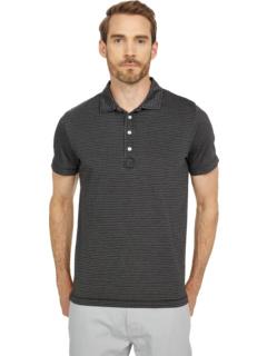 Garment Dyed Stripe Polo Billy Reid