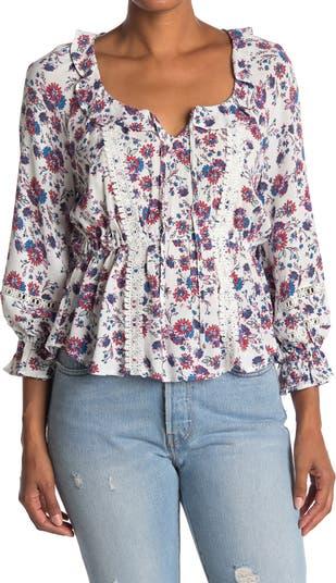 Крестьянская блуза с воланом American Rag
