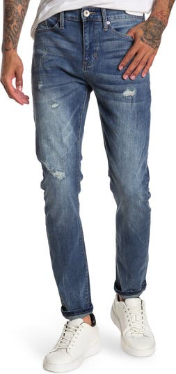 Рваные джинсы скинни Request