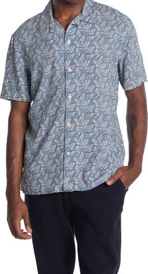 Рубашка с короткими рукавами и принтом в виде листьев Toscano