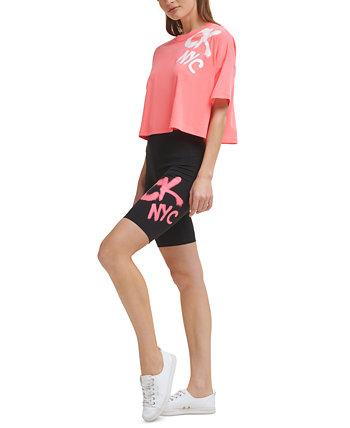 Women's Graffiti-Logo Bike Shorts Calvin Klein