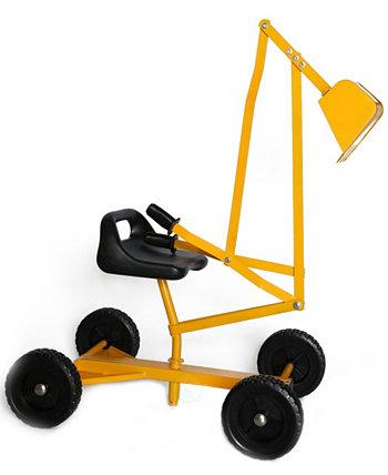 Игрушечный кран-экскаватор с колесами Playberg