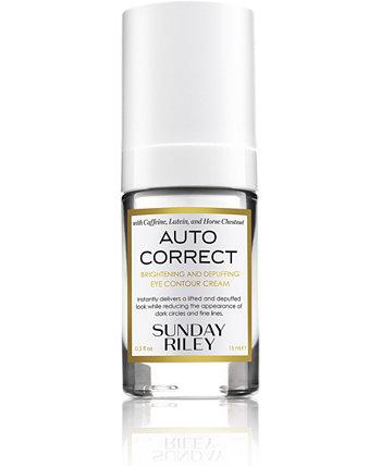 Автокорректирующий осветляющий и увлажняющий крем для контура глаз, 0,5 эт. унция Sunday Riley