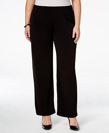 Широкие брюки большого размера без застежки NY Collection