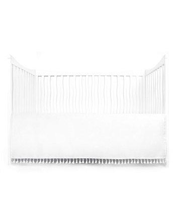 Присборенная юбка для детской кроватки с кисточками Tadpoles