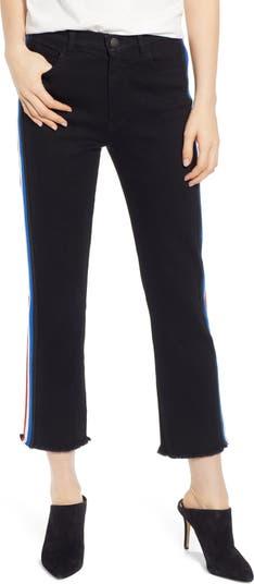 Укороченные джинсы в полоску Pam & Gela PAM AND GELA