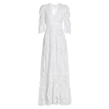 Свадебное платье с облаками LOVESHACKFANCY