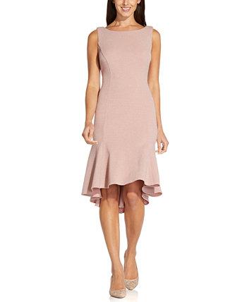 Трикотажное платье с эффектом металлик и хомутом на спине Adrianna Papell