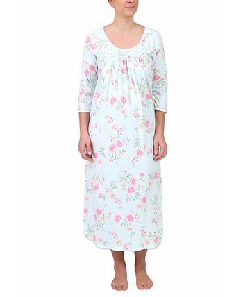 Длинная ночная рубашка с цветочным принтом Miss Elaine
