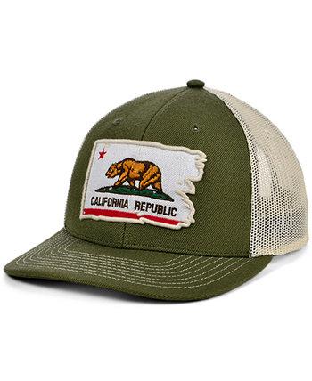 Local Crowns CALIFORNIA Изогнутая бейсболка с порванным флагом и потрепанным флагом Lids