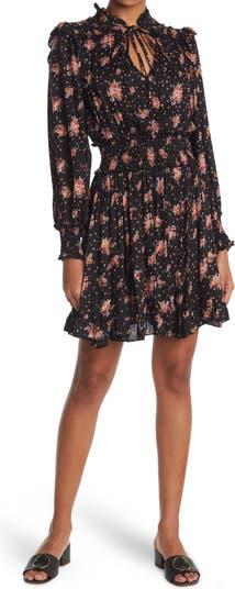Smocked Shoulder Mini Dress Angie