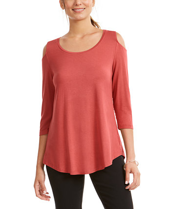 Petite Cold-Shoulder Top, Created for Macy's J&M Collection