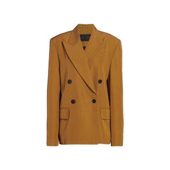 Костюмная куртка из эластичного шелка с разрезным воротником Proenza Schouler