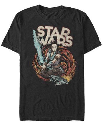 Мужская футболка Episode IX Rise of Skywalker Galaxy Rey Star Wars