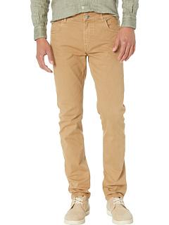 Хлопковые эластичные брюки с пятью карманами Eleventy