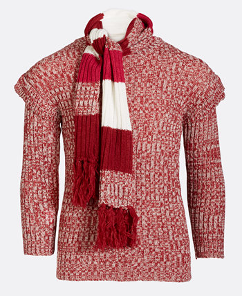 Girls Ruffle Sweater & Matching Scarf Kidtopia