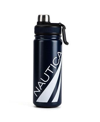 Бутылка для воды Keel с двойными стенками, отверстием наверху на два винта и ручкой для переноски, 22 унции Nautica