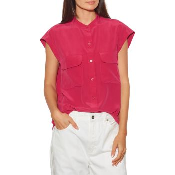 Шелковая блуза Covisa с короткими рукавами EQUIPMENT