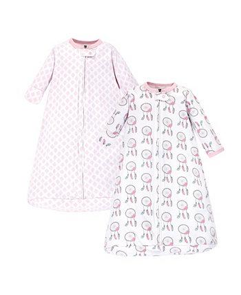 Носимый спальный мешок для маленьких девочек и мальчиков Ловец снов с длинным рукавом, набор из 2 шт. Hudson Baby