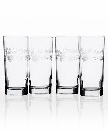 Охладитель Icy Pine Cooler Highball 15 унций - набор из 4 стаканов Rolf Glass