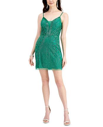 Мини-платье без рукавов с пайетками J Kara