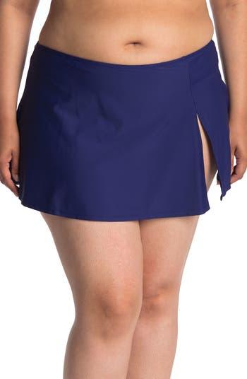 Slit Skirt Bikini Bottom Nicole Miller