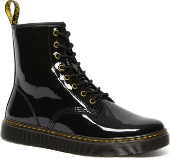 Zavala Patent Lace-Up Boot Dr. Martens