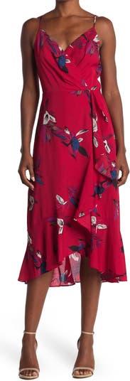 Платье миди с запахом и цветочным принтом Scarlette Lucy Paris