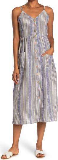 Striped Chevron Midi Dress Angie