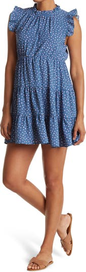 Многоярусное платье с оборками на рукавах Cotton Emporium