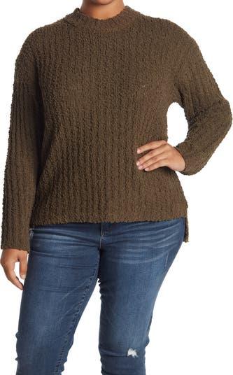 Пуловер из букле с круглым вырезом и ступенчатым подолом Bobeau