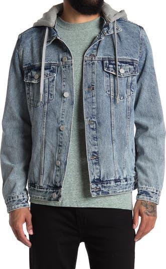 Denim Jacket with Removable Hood BLANKNYC
