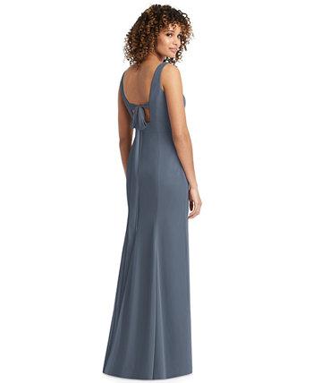 Шифоновое платье с бантом на спине Social Bridesmaids