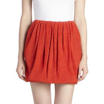 Хлопок и хлопок Шелковая мини-юбка-пузырь Nina Ricci