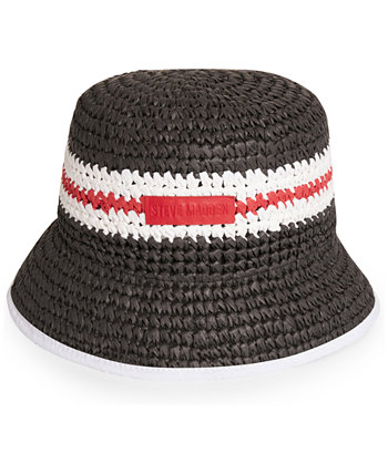 Crochet Straw Striped Bucket Hat Steve Madden