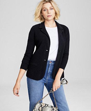 Пиджак из чистого кашемира, созданный для Macy's Charter Club