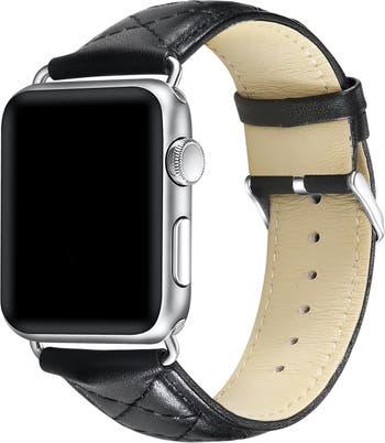 Стеганый кожаный ремешок для часов Apple POSH TECH