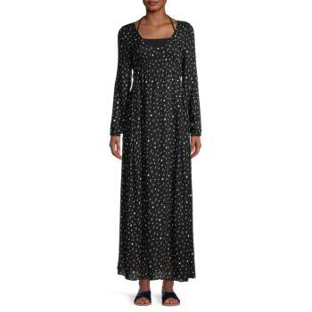 Макси-платье с принтом Chaser