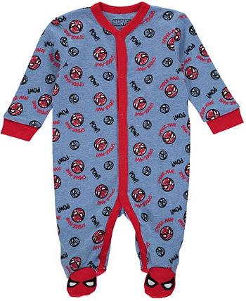 Боди для сна и игр с изображением Человека-паука для маленьких мальчиков HAPPY THREADS